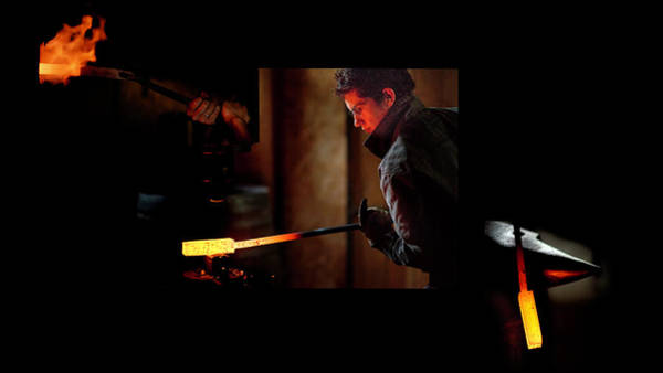 Photograph - The Blacksmith At Work by Jean Gill