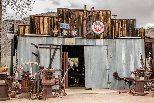 Ghosttown Photograph - The Blacksmith Shop by Teresa Wilson