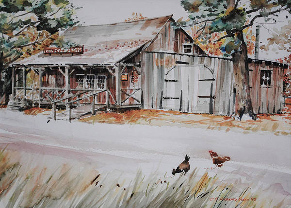 Painting - The Blacksmith Shoppe by P Anthony Visco