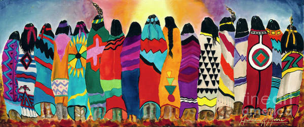 Wall Art - Painting - The Blanket Dancers by Anderson R Moore