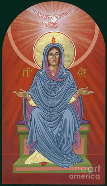 Painting - The Blessed Virgin Mary, Mother Of The Church by William Hart McNichols