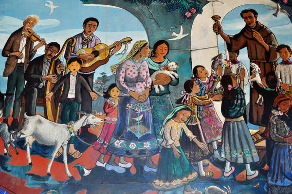 Art Print featuring the painting The Blessing Of Animals Olvera Street by Kyle Hanson