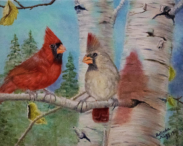 Mate For Life Painting - The Blessings by Belinda Nagy