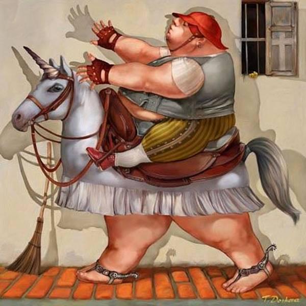 Sausalito Painting - The Blind Horseman by Tanya Doskova