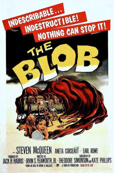 Blob Photograph - The Blob  by Movie Poster Prints