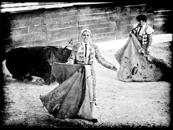 Photograph - The Blond, The Bull And The Coup De Gras Bullfight by Jennifer Wright