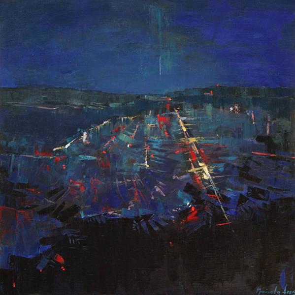 Wall Art - Painting - The Blue by Anastasija Kraineva