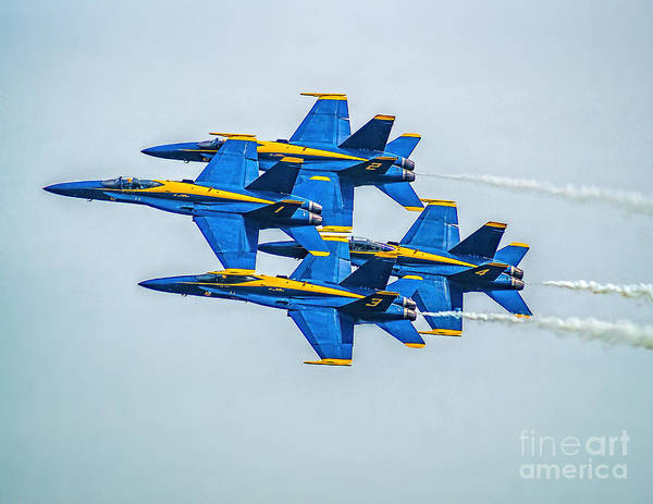 Photograph - The Blue Angels by Nick Zelinsky