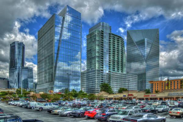 Photograph - The Blue Boys 2 Terminus Office Complex Reflections Buckhead Atlanta Art by Reid Callaway
