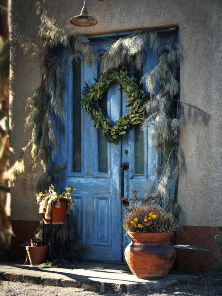 Photograph - The Blue Door by Lucinda Walter