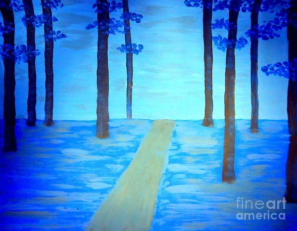 Painting - The Blue Forest by Diamante Lavendar