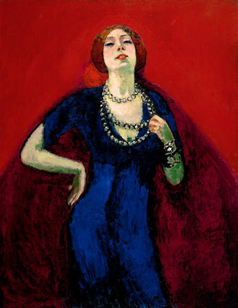 Fauve Painting - The Blue Gown by Kees van Dongen