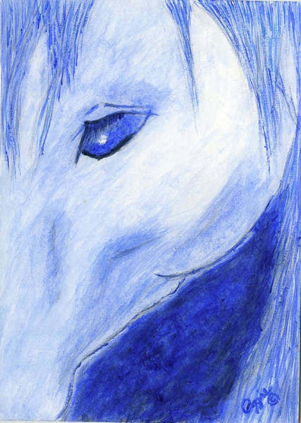 Painting - The Blue Horse by Stephanie Agliano