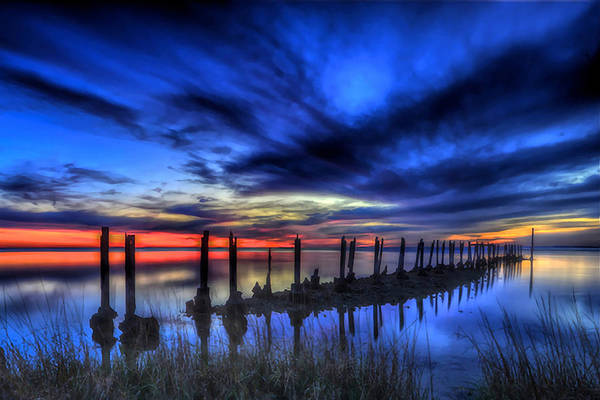 Photograph - The Blue Hour Comes To St. Marks #1 by Don Mercer