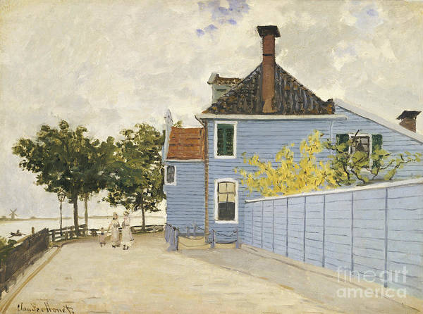 Painting - The Blue House, Zaandam by Claude Monet