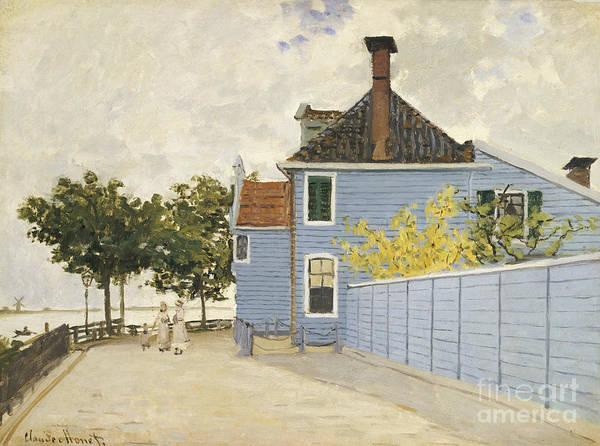 Wall Art - Painting - The Blue House, Zaandam by Claude Monet