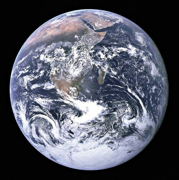 Painting - The Blue Marble Taken By Astronauts Aboardapollo17 In1972 by Celestial Images