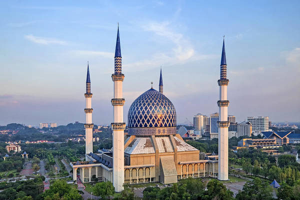 Mosque Photograph - The Blue Masjid by Mohd Rizal Omar Baki