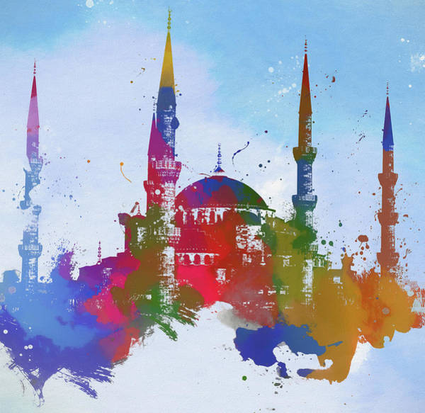 Wall Art - Painting - The Blue Mosque by Dan Sproul