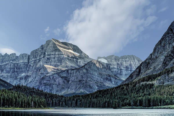 Photograph - The Blue Mountains Of Glacier National Park by Kay Brewer