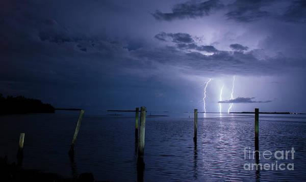 Lightning Bolt Photograph - The Blue Of Night. by Quinn Sedam