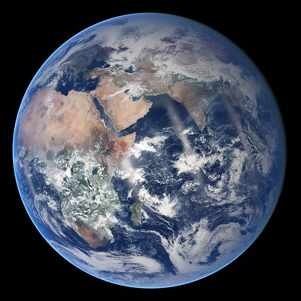 Painting - The Blue Planet Eastern Hemisphere - The Blue Marble  by Celestial Images