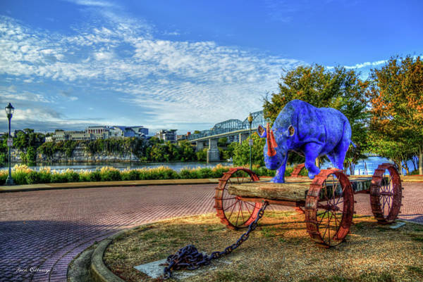 Photograph - The Blue Rhino Coolidge Park Chattanooga Tennessee Art by Reid Callaway