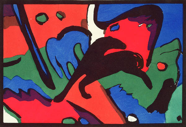 The Blue Rider Wall Art - Painting - The Blue Rider by Franz Marc