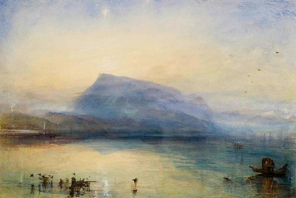 J. M. W. Turner Painting - The Blue Rigi, Sunrise by JMW Turner