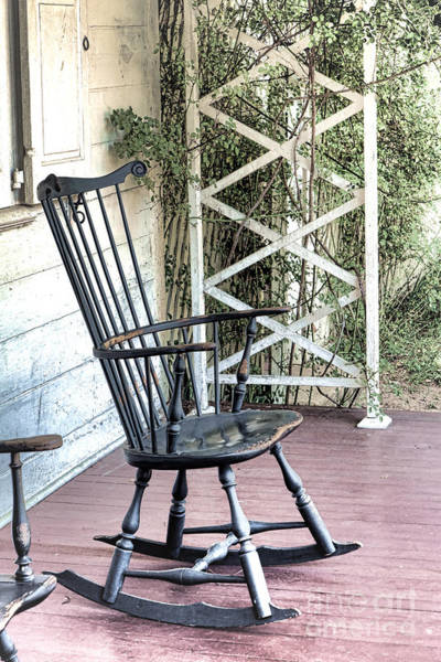 Photograph - The Blue Rocking Chair  by Olivier Le Queinec