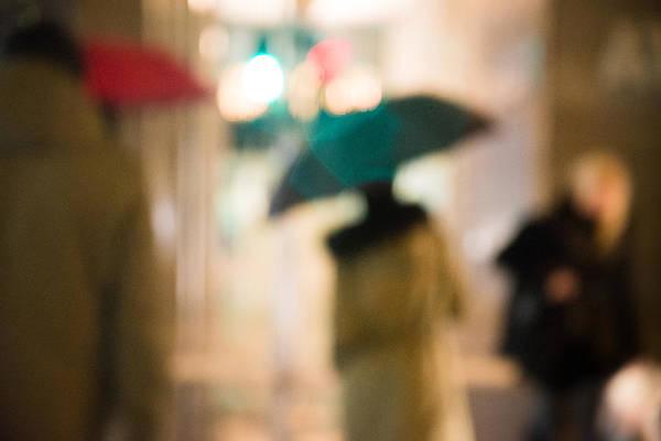 Photograph - The Blue Umbrella by Alex Lapidus