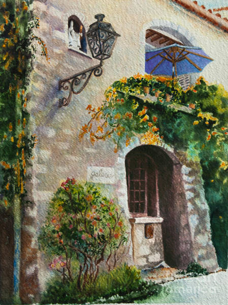 Painting - The Blue Umbrella by Karen Fleschler