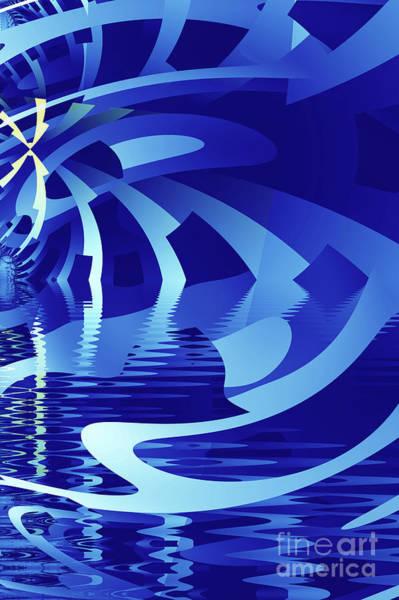 Pool Digital Art - The Blue Pool by John Edwards