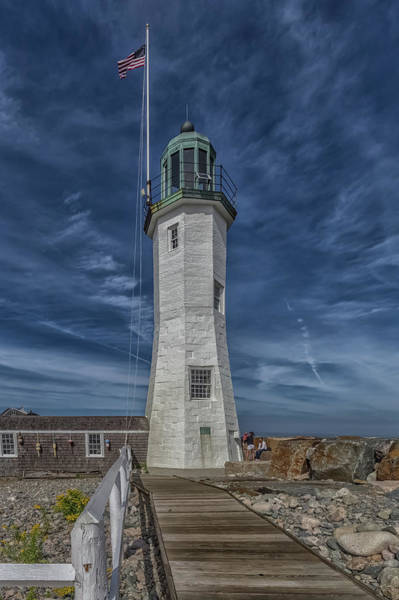 Photograph - The Boardwalk At Old Scituate Lighthouse by Brian MacLean