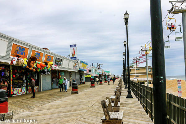 Wall Art - Photograph - The Boardwalk At Seaside Heights by William Rogers