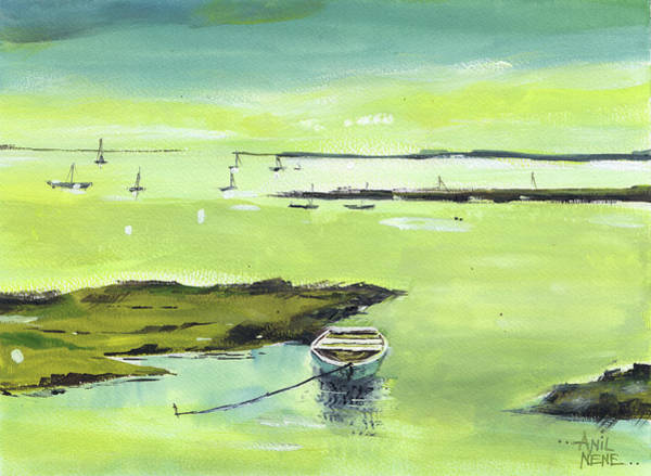 Painting - The Boat 2 by Anil Nene