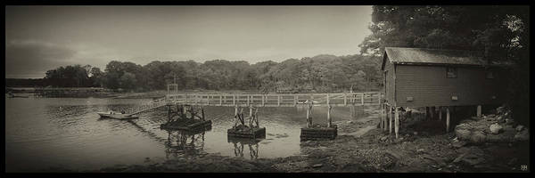 Photograph - The Boathouse And Wharf by John Meader