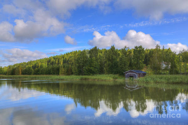 Archipelago Photograph - The Boathouse by Veikko Suikkanen