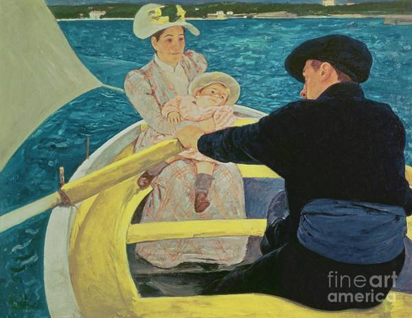 Rowing Wall Art - Painting - The Boating Party by Mary Stevenson Cassatt