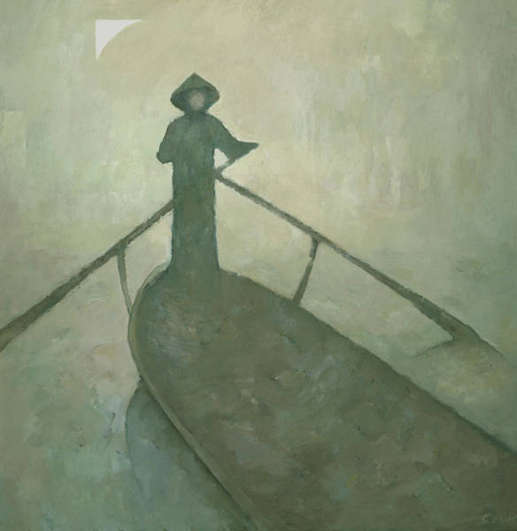 Wall Art - Painting - The Boatman by Steve Mitchell