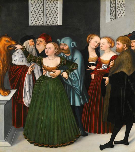 Cranach Painting - The Bocca Della Verita. The Mouth Of Truth by Lucas Cranach the Elder