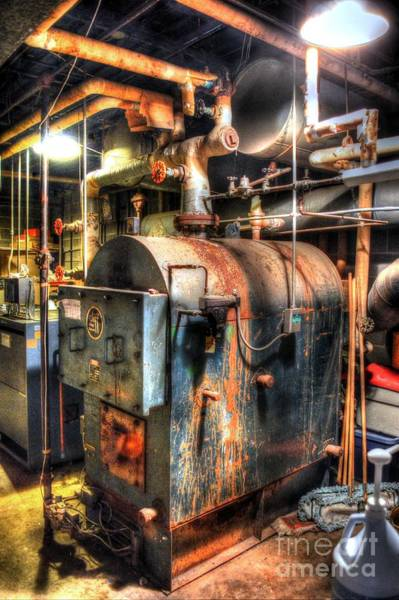 Boiler Photograph - The Boiler Room by Michael Garyet