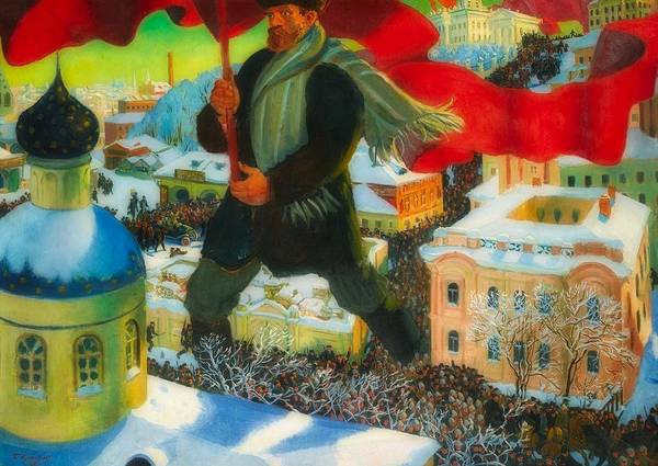 Bolshevik Painting - The Bolshevik by Boris Kustodiev