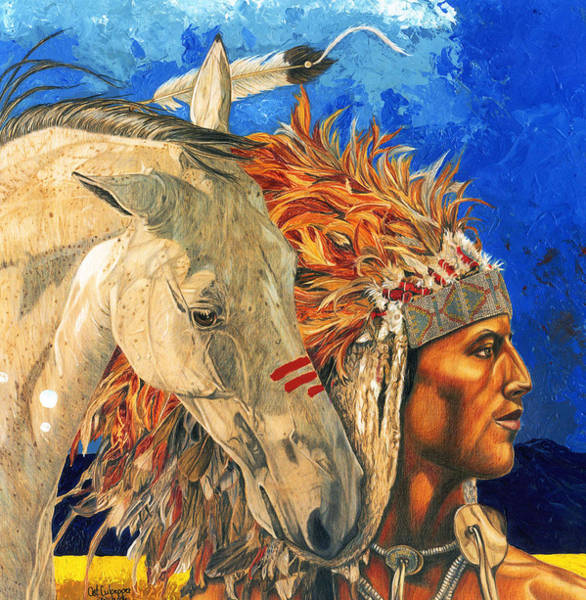 Native Mixed Media - The Bond by Cat Culpepper