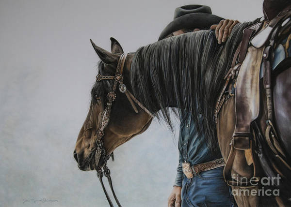 Saddle Wall Art - Pastel - The Bond by Joni Beinborn