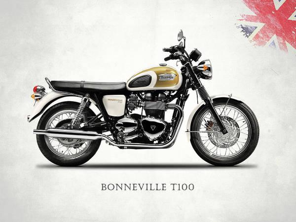 Triumph Photograph - The Bonneville T100 by Mark Rogan