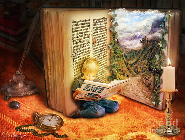 Candles Digital Art - The Book Of Magic by Eugene James