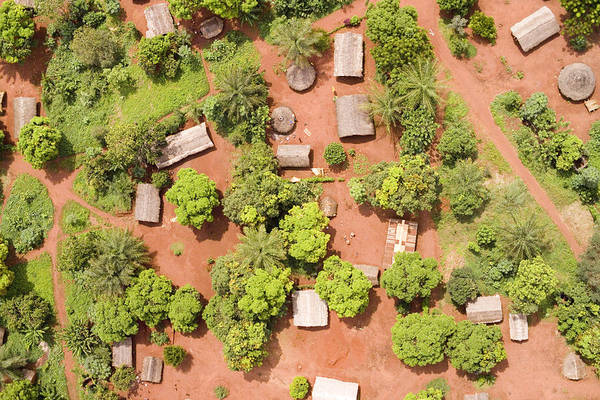 Bangassou Photograph - The Border Town Village Of Bangassou by Michael Fay
