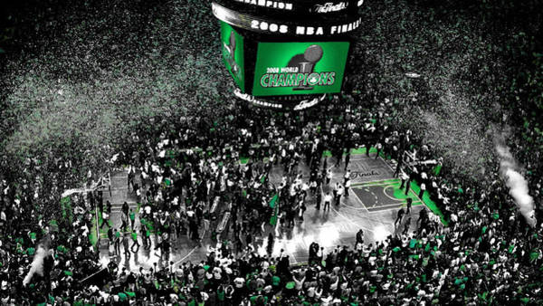 Wall Art - Mixed Media - The Boston Celtics 2008 Nba Finals by Brian Reaves