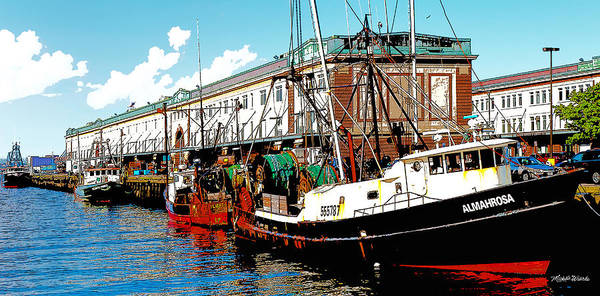 Digital Art - The Boston Fish Pier by Michelle Constantine